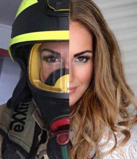دختر 30 ساله زیباترین آتش نشان زن