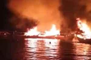 جزئیات جدید از آتش سوزی ۷ لنج در بندرکنگ