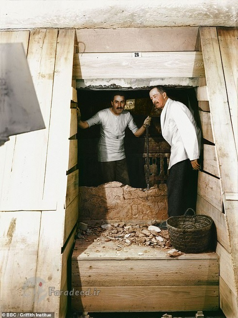 تصاویر جالب از کشف مقبره 3000 ساله توت عنخ آمون