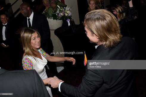 برد پیت و همسر سابقش جنیفر آنیستون در SAG Awards 2020