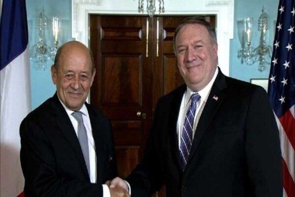 وزرای خارجه آمریکا و فرانسه تلفنی گفتگو کردند