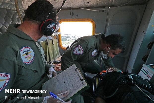 انتقال ۵ زن باردار در ماموریت اورژانس هوایی کردستان در یک ماه