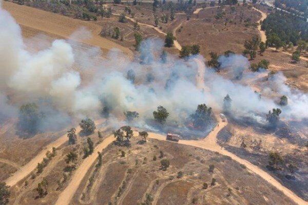 ثبت ۲۸ مورد آتشسوزی در شهرکهای صهیونیستی اطراف غزه