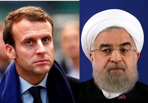 روحانی به مکرون: پیشنهاد جدید آمریکا مخالف قطعنامه شورای امنیت است