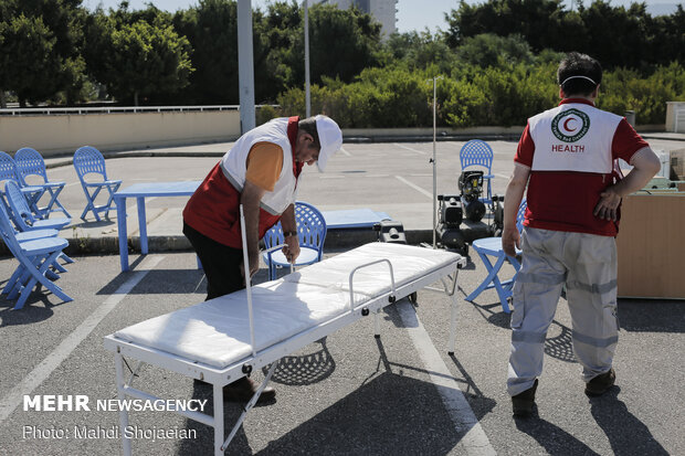 ویزیت ۷۰۰ مجروح انفجار لبنان در بیمارستان صحرایی هلال احمر