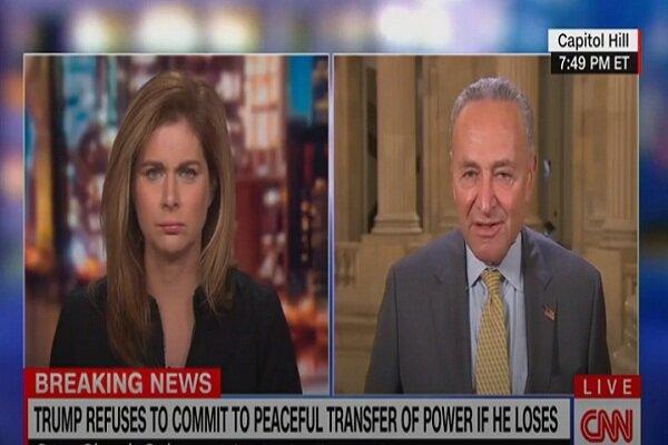 چاک شومر: ترامپ لیاقت ریاست جمهوری آمریکا را ندارد