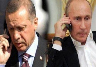 پوتین و اردوغان درباره سوریه و قرهباغ گفتگو کرد