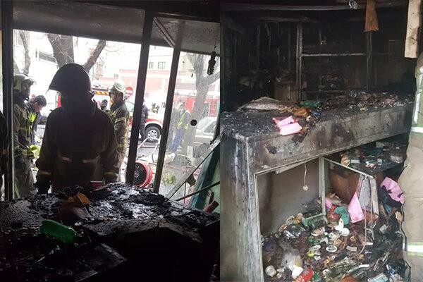 آتش سوزی در مغازه متروکه جان مرد ۹۰ ساله را گرفت