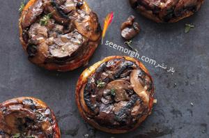 ترتیلای قارچ، یک پیش غذای خوشمزه و رژیمی