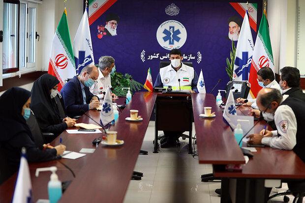 نخستین جلسه ستاد طرح سلامت نوروزی سازمان اورژانس کشور برگزار شد
