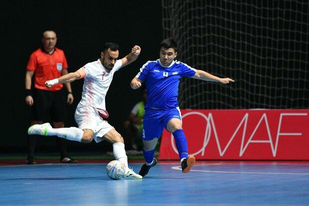 پیروزی نفس گیر تیم ملی فوتسال ایران مقابل ازبکستان در نیمه نخست