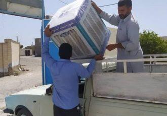 ۶۶۳ دستگاه کولرآبی بین مددجویان کمیته امداد باشت توزیع شد