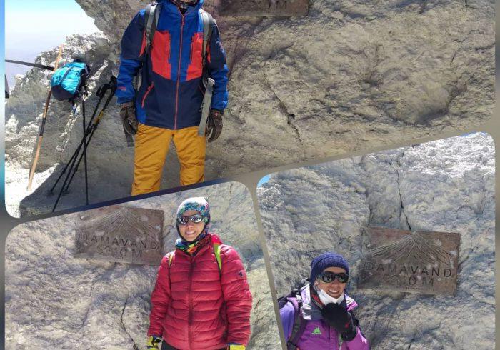 صعود افتخار آمیز کوهنوردان گچسارانی به دماوند