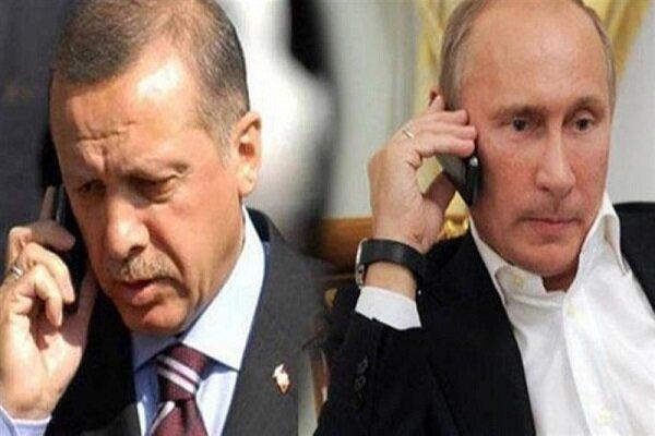 اردوغان و پوتین درباره موضوعات منطقهای گفتگو کردند