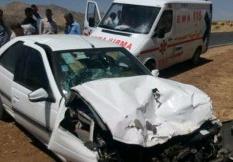 یک کشته و ۱۱ مجروح در تصادف زنجیره ای محور شوش – اهواز